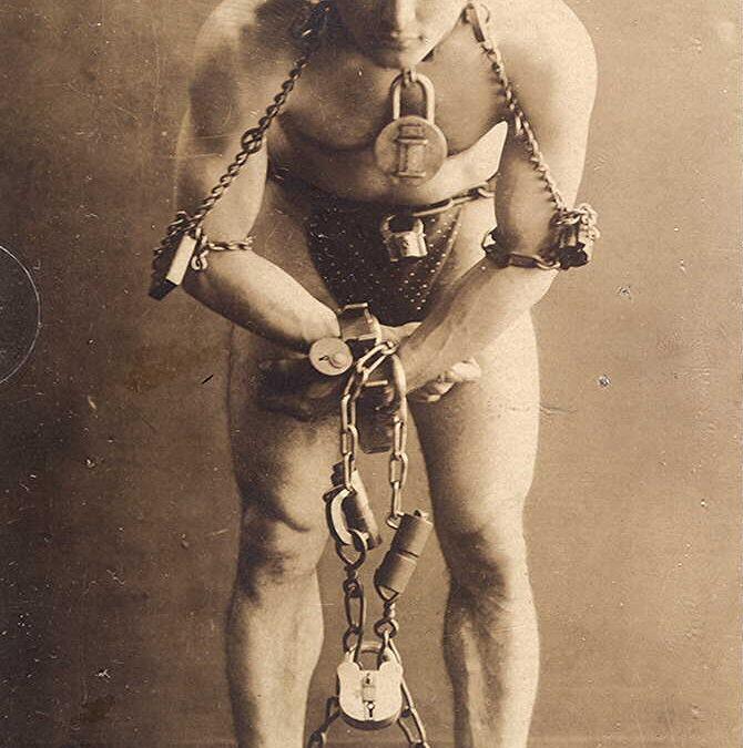 Harry Houdini; een van de bekendste goochelaars ooit!
